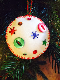 Felted handmade christmas decoration