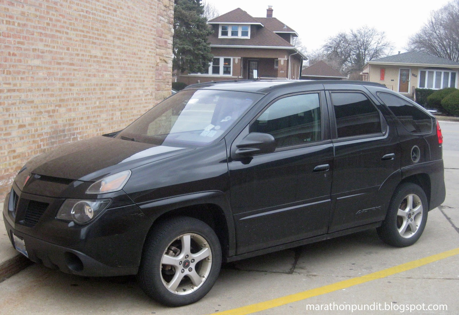 Pictured is a 2005 black aztek which i photographed yesterday here in morton grove edmunds com s opinion of the vehicle was the most damning declaring