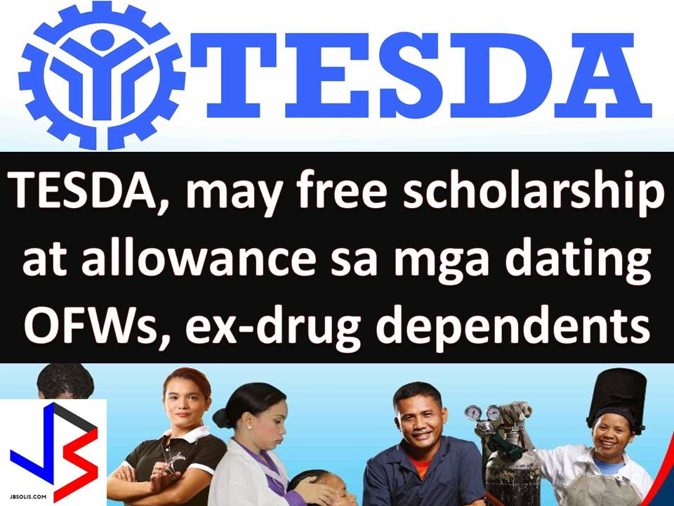 "Starting May 1 the Technical Education and Skills Development Authority's (TESDA) will launch the ""Emergency Skills Training Program"" that will provide training scholarship and allowances to the following beneficiaries; Repatriated Overseas Filipino Workers Rehabilitated Drug Dependents Other members of the marginalized sector According to TESDA Director General Guiling Mamondiong, the scholars will receive the following benefits; Free tuition Transportation Allowance Tools Meals of the scholars ""Maraming tao ang nangangailangan ng skills agad-agad... maraming OFWs ang umuwi dahil hindi tugma yung skills nila sa kailangan ng employer,"" Mamondiong said."