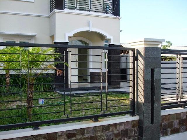 Model Pagar Besi Rumah Minimalis