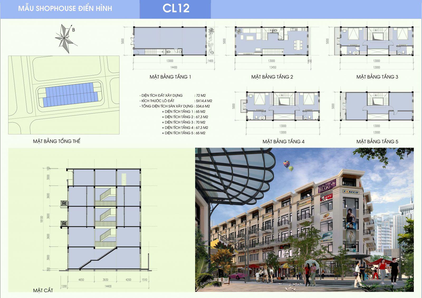 Khái quát về khu Shophouse Nam Định - Công ty Cổ phần Dịch vụ Hàng không Thăng Long
