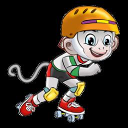 Logo dan Lambang Cabang Olahraga PON Jabar 2016 Sepatu Roda