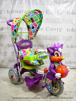 Sepeda Roda Tiga Royal RY8588CJ Baby Ball + Pengaman Interaktif, Kanopi, Jok Kain