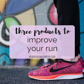 3 products to improve your run. running tips. running for beginners tips. how to stay healthy in law school | brazenandbrunette.com