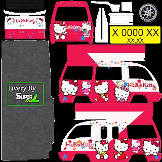 Download Livery Angkot Hello Kitty