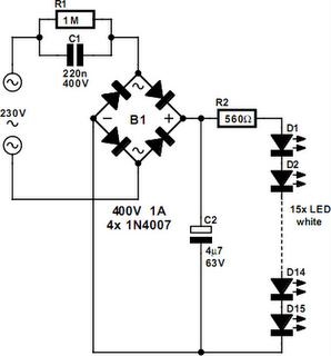 D Rudiant: Led Light Circuit Diagram 230v