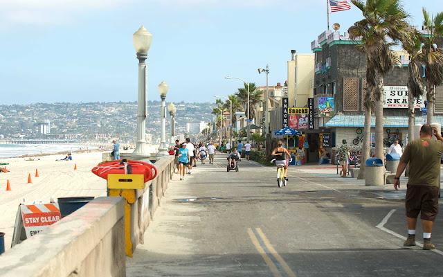 Movimentação de turistas no mês de julho em San Diego
