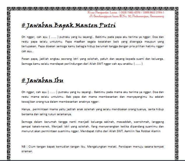Upacara Sungkeman Pengantin Melakukan Siraman Rias Luvia Semarang