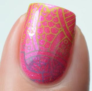 doodle nail art