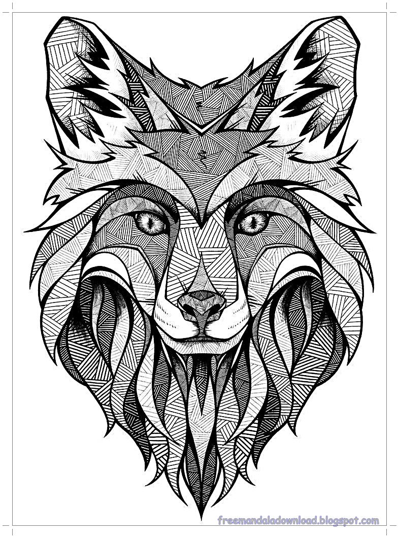 malvorlagen wolfmandalahohe qualitätwolf mandala