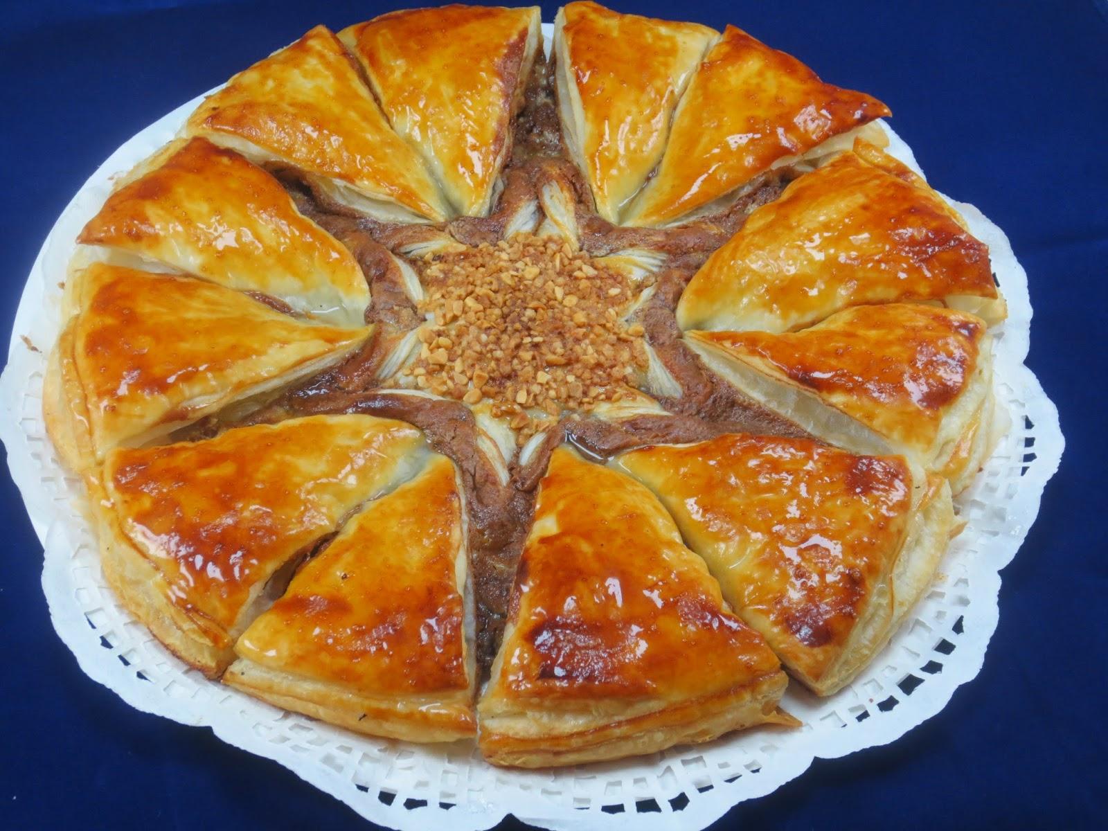 Estrella de hojaldre dos nutellas Ana Sevilla con Thermomix