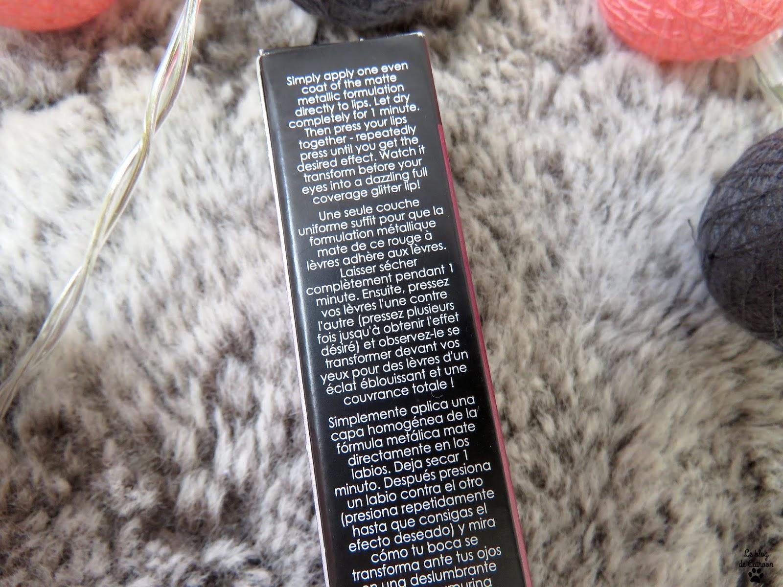 Glitter Flip - Forbidden - Rouge à Lèvres Liquide Pailleté Transformateur - Ciaté