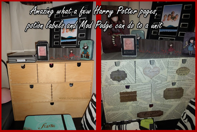 adding harry potter pages to furniture