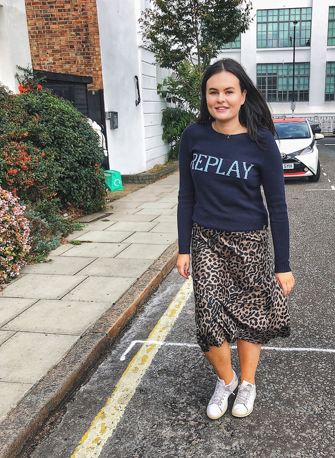 replay womens jumper, replay uk, asos leopard skirt, leopard midi skirt, asos sold out skirt , ootd, uk fashion blogger, autumn style 2018