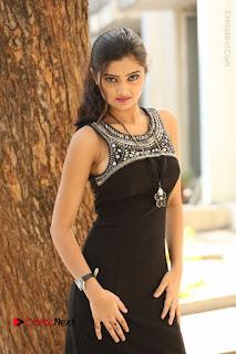 Actress Poojitha Pallavi Naidu Stills in Black Short Dress at Inkenti Nuvve Cheppu Movie Platinum Disc Function  0142.JPG