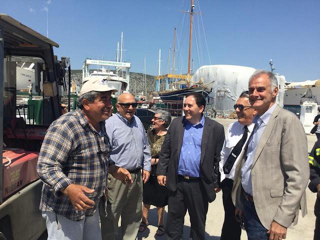 Γκιόλας - Λαμπρίδης επισκέφθηκαν τα λιμάνια της Αργολίδας