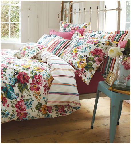 Gorgeous floral bedding from the new Joules homeware collection.