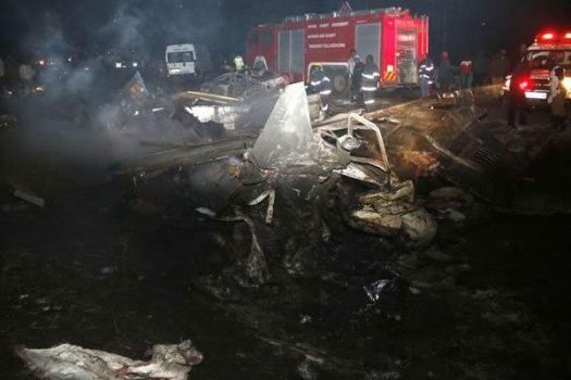 Photos: 40 perish as tanker rams into vehicles and bursts into flames on Nairobi highway, Kenya