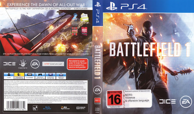 Capa Battlefield 1 PS4