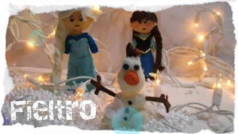 Personajes de Frozen en fieltro