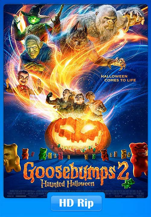 Goosebumps 2 Haunted Halloween 2018 720p HDTS Hindi Eng x26 | 480p 300MB | 100MB HEVC Poster