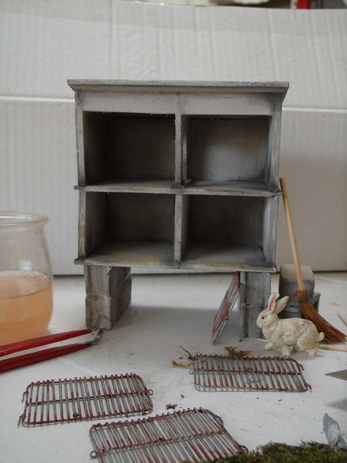 Minimanie du nouveau chez emilie - Clapier lapin beton ...