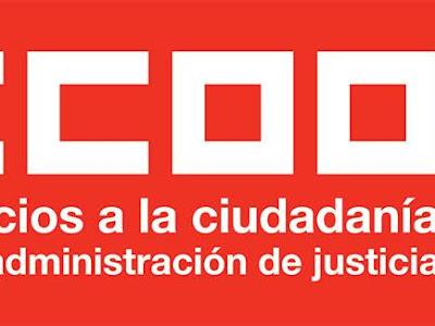 CCOO denuncia la nota del Ministerio de Justicia en relación al CEJ