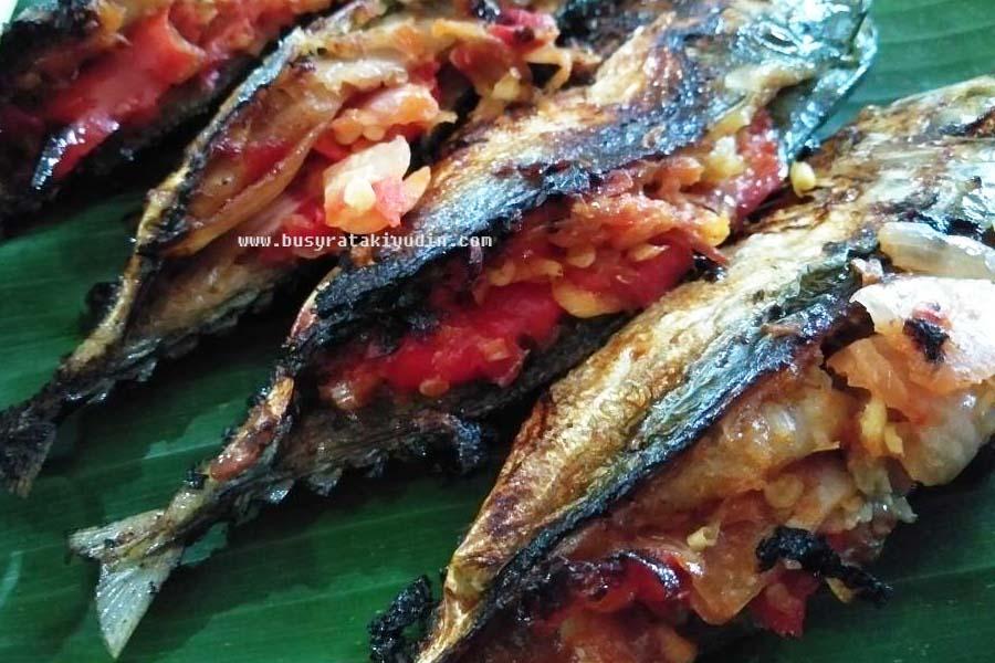 ikan goreng sumbat, ikan kembung, serai, mudah dan simple, ikan goreng sumbat serai,