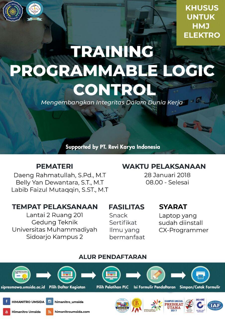 Training PLC Programmable Logic Control Himanitro UMSIDA Universitas Muhammadiyah Sidoarjo
