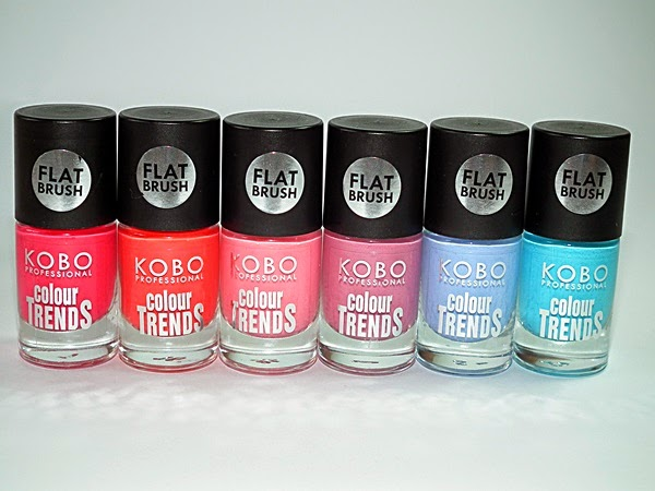 KOBO, Kobo Profesional, flat brush, Colour Trends, Anemone, Daylily, Cherry Flover, Orchid,Lilac, Forget-Me-Not, nails, lakier do paznokci,