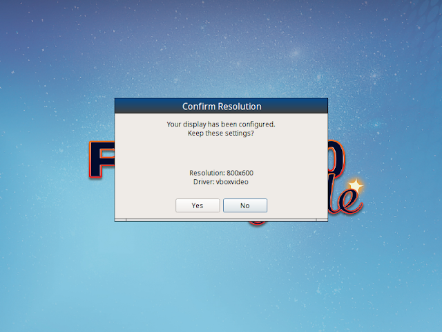 PC-BSD confirms screen resolution