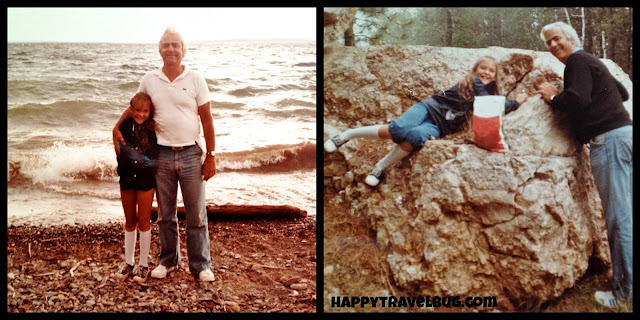 me and my dad on vacation