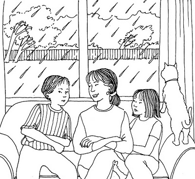 Gambar Anggota Keluarga Kartun Hitam Putih