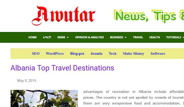 Albania's best Touristic Destinations, according to awutar