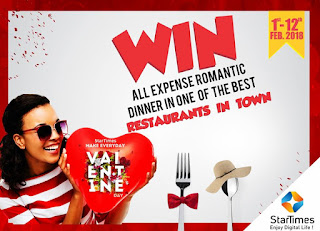 Enjoy all-expense paid Vals day treat on StarTimes