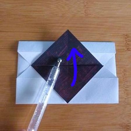 Folding an origami paper envelope design craft