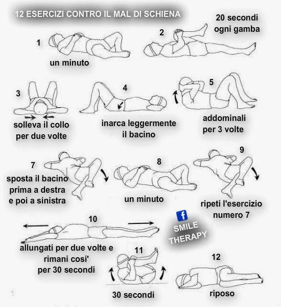 12 esercizi contro il mal di schiena