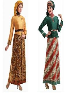 Long Dress Batik Kombinasi Terbaru