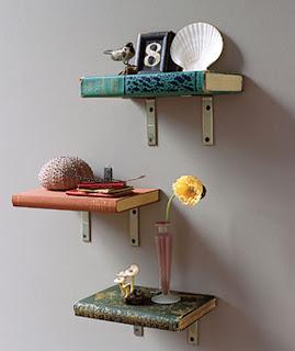 diy shelves made of real books 1 Unique shelving options 13
