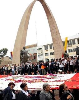 Foto en el Día de la Reincorporación de Tacna a la patria en Tacna