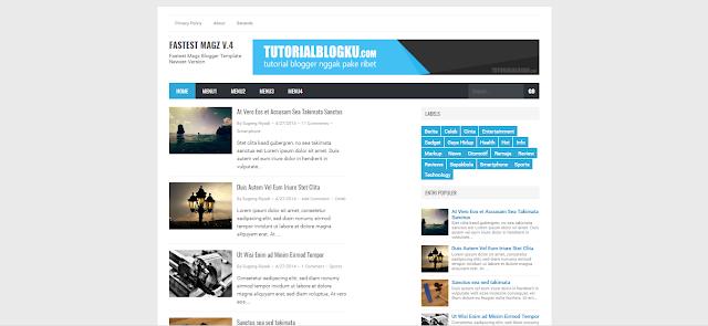Fastest Magz V.4.9 Blogger Template Premium Free Download