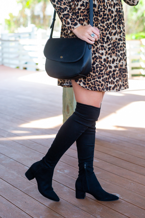 Black Over The Knee Boots | Chasing Cinderella Blog