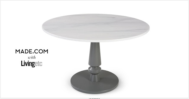 Marble Round Dining Table Graphic