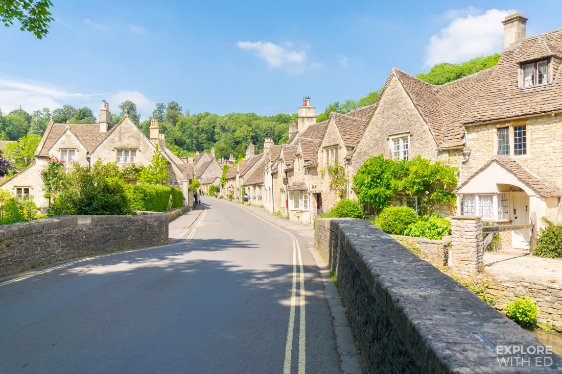 Summer's day in Castle Combe