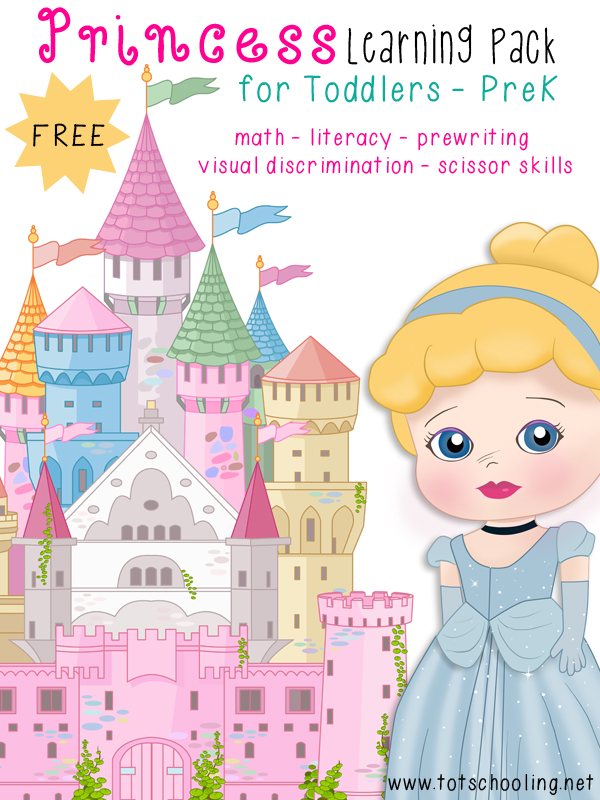 Free Princess Learning Pack for Toddlers - PreK