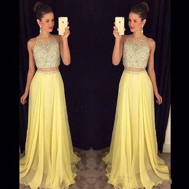 Modelos de vestidos de dos piezas para fiesta