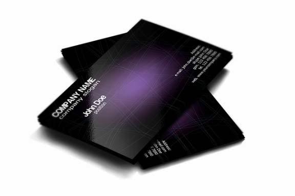 Stylish Dark Purple Free Business Card Template