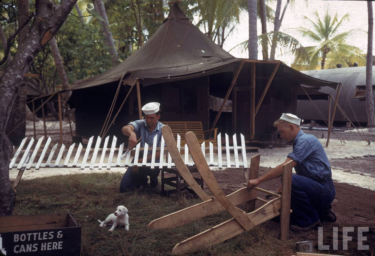 Rare Color Photographs Of American Troops On Tarawa Atoll
