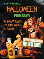 Halloween Santa Monica Bar Crawl | October 27