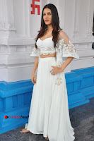 Telugu Actress Amyra Dastur Stills in White Skirt and Blouse at Anandi Indira Production LLP Production no 1 Opening  0015.JPG